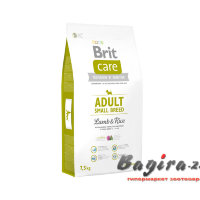 Brit (Брит) Care Adult Small Breed корм для собак мелких пород ягненок, рис 7,5кг