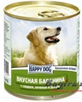 Happy Dog (Хеппи Дог) Natur Line консервы для собак баранина с сердцем, печенью и рубцом 750 гр